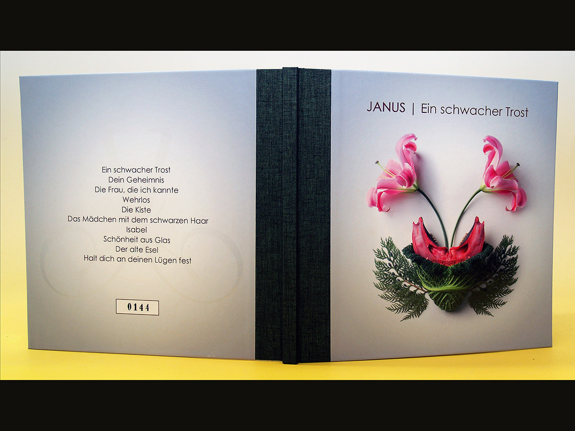 Aufgeklapptes CD-Buch